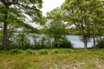Direct access from backyard to beautiful kettle pond