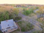 Aerial view of home - walk to Eldredge Park for baseball games