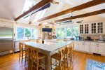 Gourmet kitchen with views over Eastward Ho golf course and private tennis court