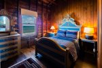 Twin bedroom with ocean views