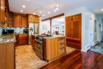 Gorgeous kitchen with stainless steel appliances