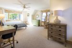 Laundry area with washer and dryer in the kitchen