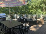 Deck photo from summer - plenty of privacy