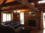 Comfortable Living Area with Wood Stove