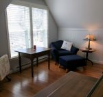 Second floor bath has two entrances