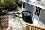 Downstairs access to laundry and another deck