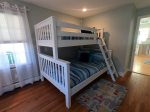 FIRST floor bedroom 1. A full on the bottom/twin on the top bunk bed available