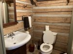 A genuine hand-hewn log cabin