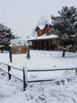 A snowy day at the Quarter Horse Inn & Lodge.