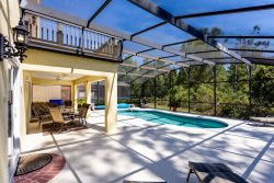 Amazing modern 5 bed villa with south facing pool overlooking conservation and woodland