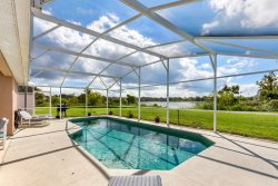 512 - Beautiful home with south facing pool overlooking water