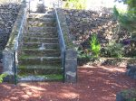 Traditional stone stairs are used to next level of gardens