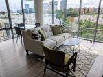Floor to ceiling windows offer unparalleled views over Tysons