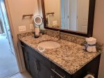 Granite countertops display the little touches Dwel is known for