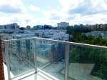 The spacious balcony affords beautiful views over Tysons.
