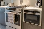 Sleek Bosch appliances, including the microwave drawer, are the next word in kitchen trends.