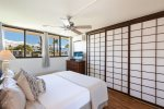 Master bedroom with privacy shoji doors shut