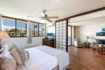 Master bedroom with privacy shoji doors open