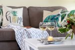 Milowai 410 Comfy Beachy Decor sofa is a sleeper