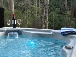 Secluded - Log Cabin - King Bed - Hot tub - Firepit - Hendersonvile -