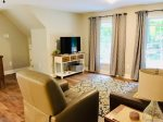 Deck with comfortable seating and Mountain View