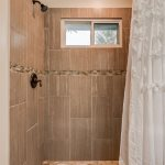 Over-sized, tile, walk-in Shower in Masterbath