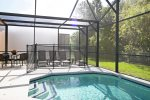Private Pool With Ample Patio Furniture