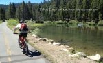 Biking olong the Truckee River