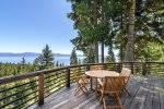 Deck  with Lake Tahoe and Mountain views-Main Level
