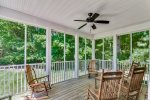 Huge Screened Out Porch Looks Out Over a Park-Like View