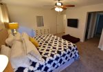 Master Bedroom 1 on Main Floor w King Bed, Premium Mattress, Walk In Closets & Private Bathroom