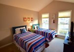 3rd Bedroom on Main Floor w 2 Twin Beds, Premium Mattresses and large HDTV