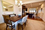 Dining Room w Table that Sits 6 plus 4 more at the. Kitchen Counter