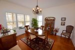 Formal Dining Room Sits 6 plus 4 more at Kitchen Counter