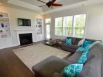 Spacious Family Room w 10` Ceilings Creates as a Peaceful Feeling of Relaxation