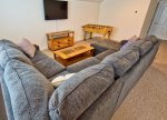 Upstairs Loft with Xtra Large HDTV Provides a Perfect Gathering Area