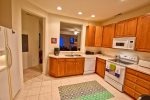 Gourmet Kitchen w Refrigerator / Freezer, Ice Maker, Oven, Microwave, Disposal and Dishwasher