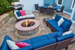 Enjoy Your Back Yard Patio w Gas Grill and Fire Pit