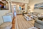 Relax In Your Family Rom w Large HDTV and 9` Ceilings