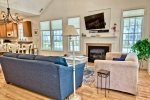 Great Room at Your Bear Trap Dunes Vacation Home - Cathedral Ceilings Give a Spacious Feel of Relaxation