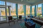 Incredible Screened in Porch Looks Out Over Your Backyard