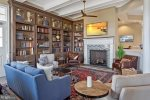 The Library Room in the Coastal Club Clubhouse