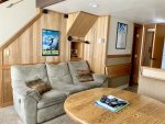 Living area with view of Alpine ski area in Summer