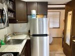 Kitchenette with apartment sized fridge