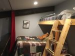 Loft Area with bunks and double bed