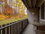 Private Balcony with Sunday River Trail Views
