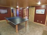 Ping Pong Table in Lower Level