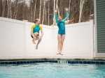 Large shared outdoor pool and hot tub