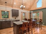 Gourmet kitchen with granite countertops and new stainless appliances