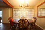 Enjoy comfort food in this dining area
